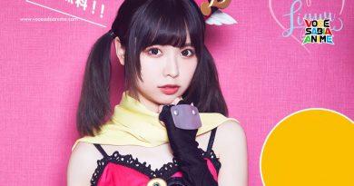 Cantora do tema de Abertura - Liyuu faz cosplay de Hatena