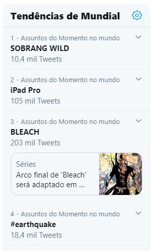 Bleach é um dos Assuntos mais Comentados no Japão, Brasil e no Mundo no Twitter