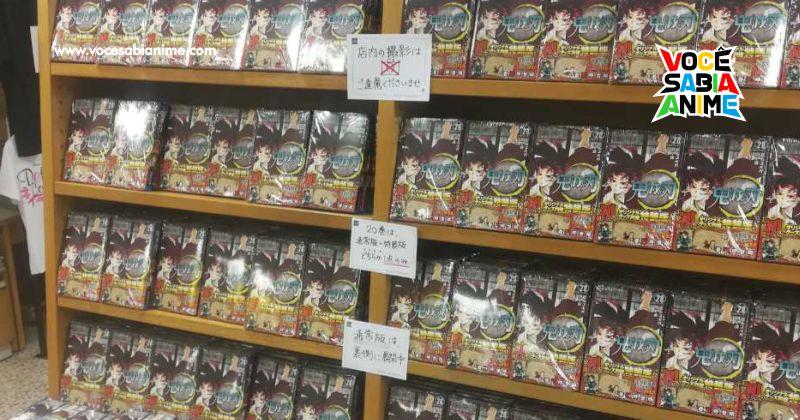 Livraria dedica muito espaço a Kimetsu no Yaiba