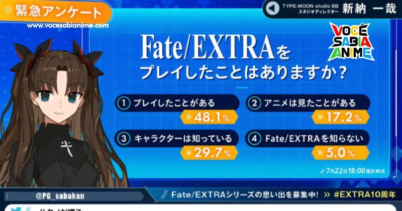 Novas Informações sobre Fate Extra Record