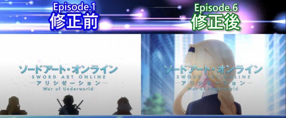 Ep 6 de Sword Art Online WoU teve Mudanças na Abertura