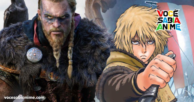 Vinland Saga e game Assassin's Creed Valhalla fazem Mangá Collab