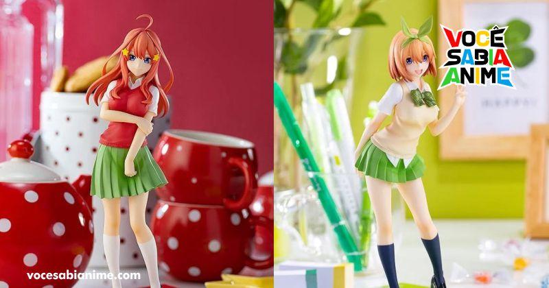 Tenha as figures da Yotsuba e Itsuki de uniforme em casa