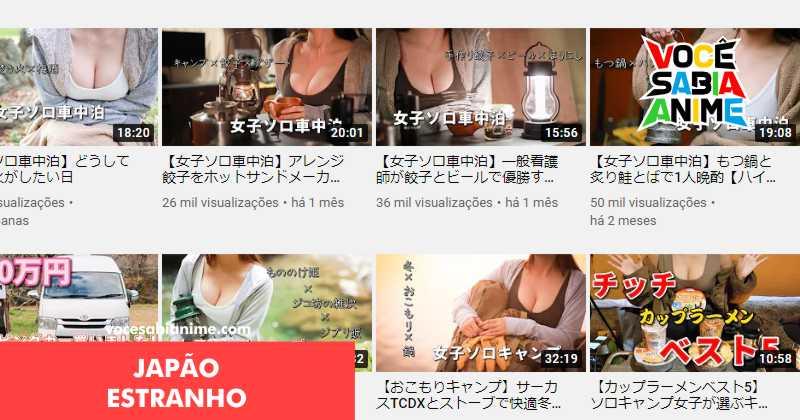 3 Canais Japoneses com Thumbs de peitos