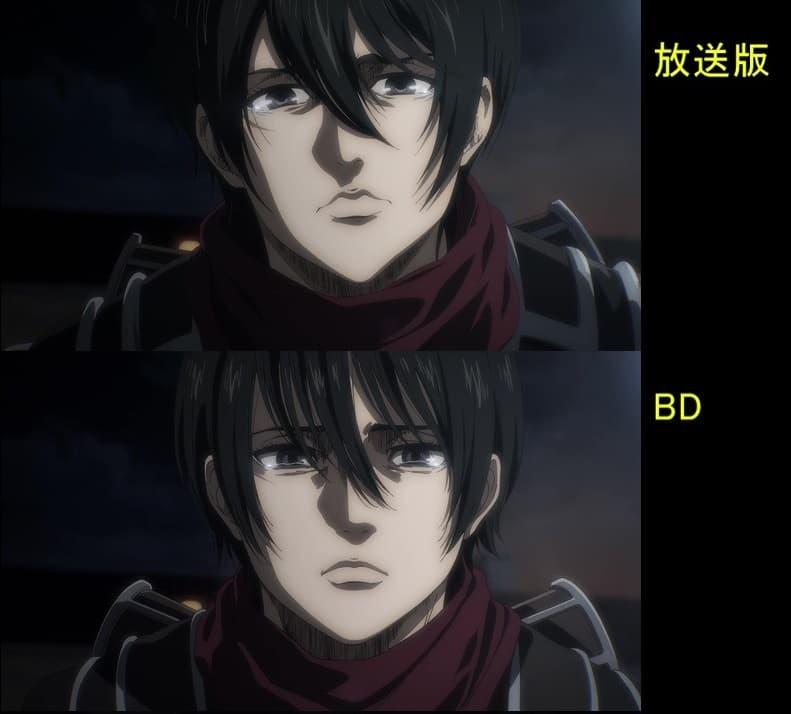 Rosto da Mikasa é alterado no BD de Attack on Titan