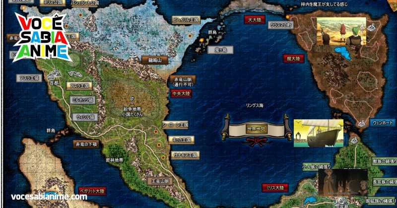 Acompanhe a Viagem de Rudeus e Eris com o Mapa do Mundo de Mushoku Tensei
