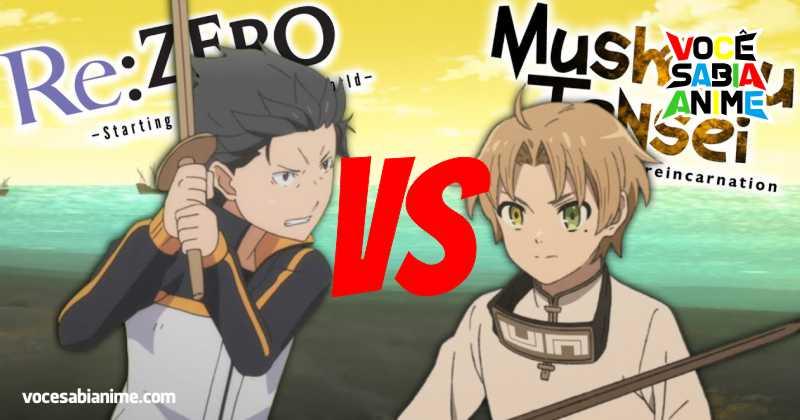 Aparentemente fãs de ReZero e Mushoku Tensei estão brigando para ver qual dos dois é o Melhor Isekai