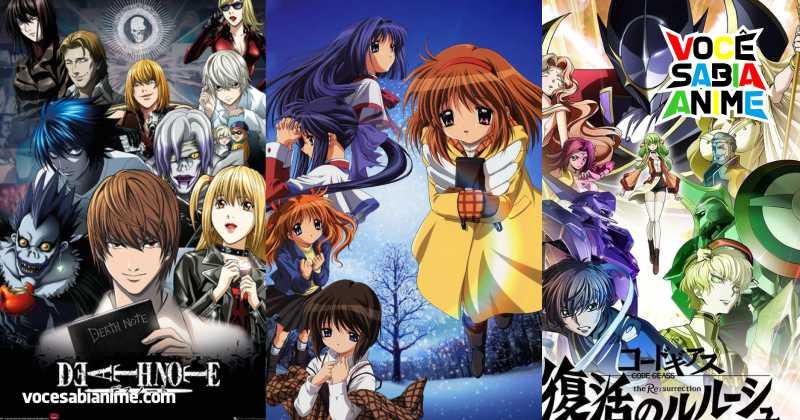 Death Note, Code Geass, Kanon e outros animes que Completam 15 anos