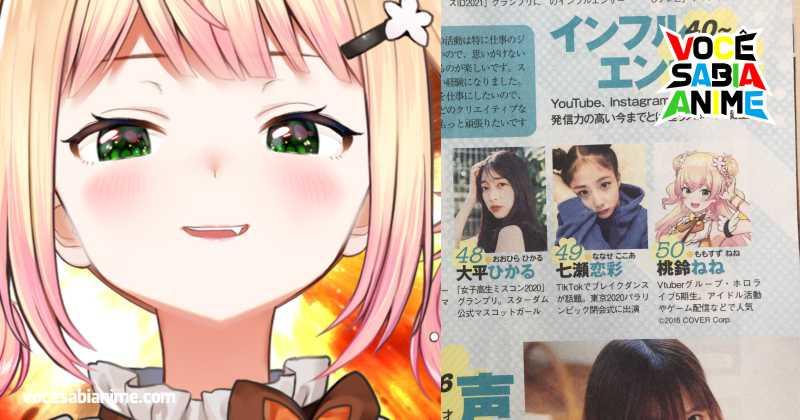 VTuber Momozusu Nene aparece de Intrusa na Playboy Japonesa